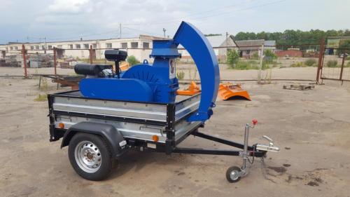 Серия 52; ИВН-2/Ø160 Измельчитель с приводом от ДВС бензин 24/27л.с. стационарный на прицепе