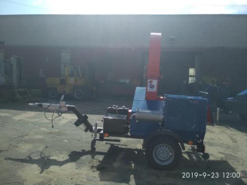 Серия 90; ПРМ250Г Прицепная Рубительная Машина с приводом от ДВС бензин, 74 лс