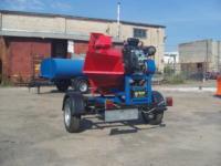 Серия 52; ПРМ160 Прицепная Рубительная Машина (к авто) с приводом от ДВС бензин 24/27л.с.